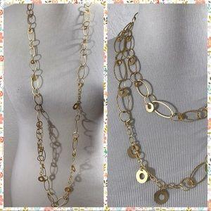 Gorgeous Long Gold Premier Designs Necklace
